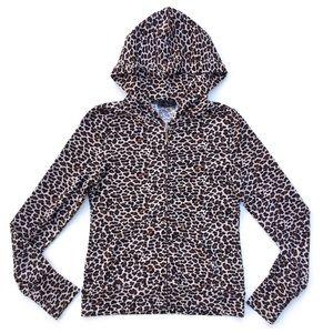 Iris Basic Animal Print Leopard Fabric Jacket
